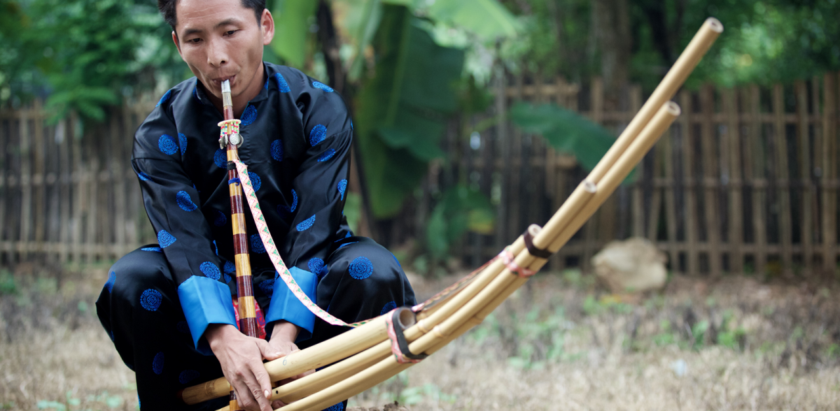 By cyril eberle lao hmong khaen player photograph by cyril eberle