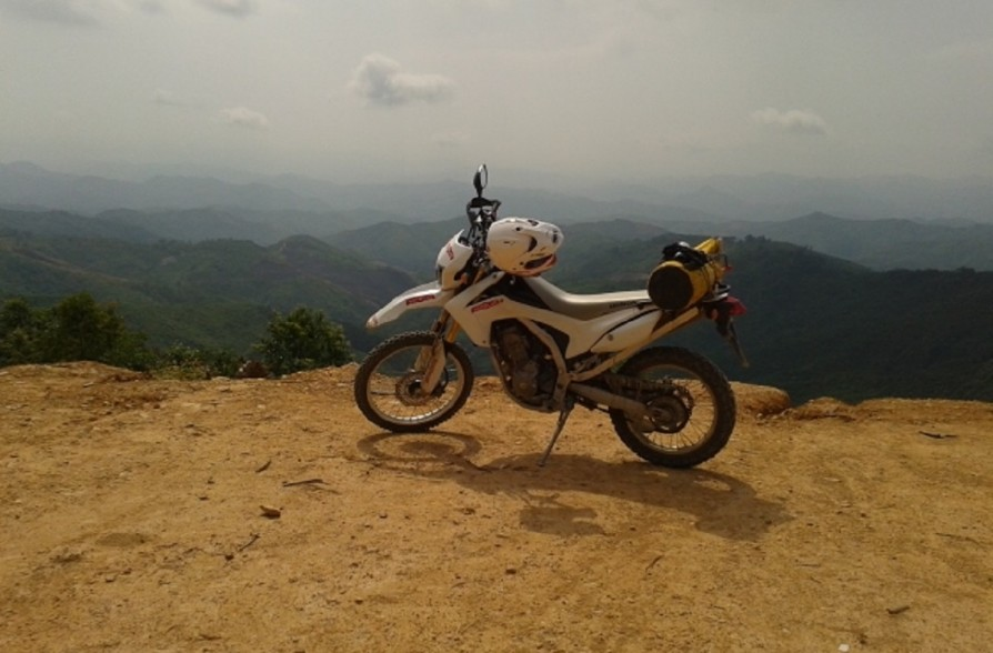 CRF 250 motorcycle tour in Laos