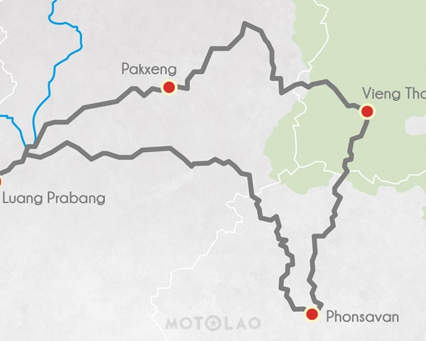 Laos-MOTOLAO-Offroad-Motorcyle-Tour-Plain-of-Jars-3-Days-Map