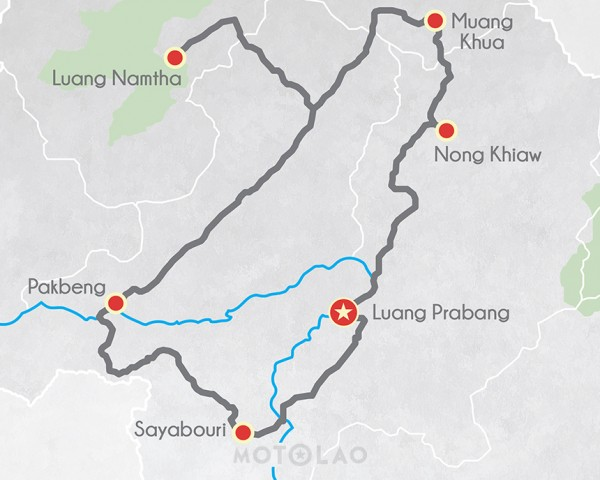 Laos-MOTOLAO-Offroad-Motorcyle-Tour-Lan-Xang-7-Days-Map
