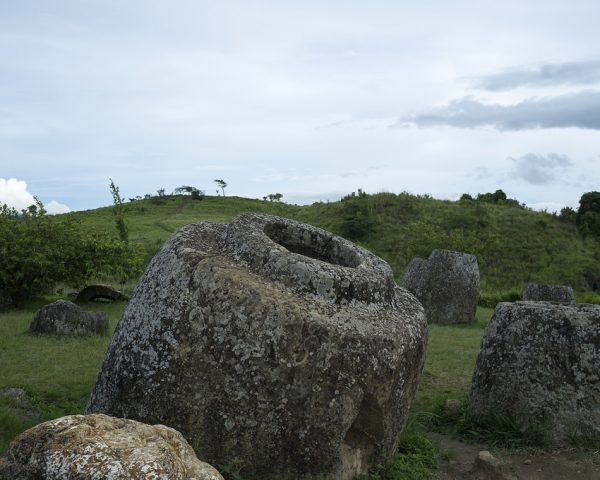 The Plain of Jars Site 1 in Phonsavan, Xiengkhouang